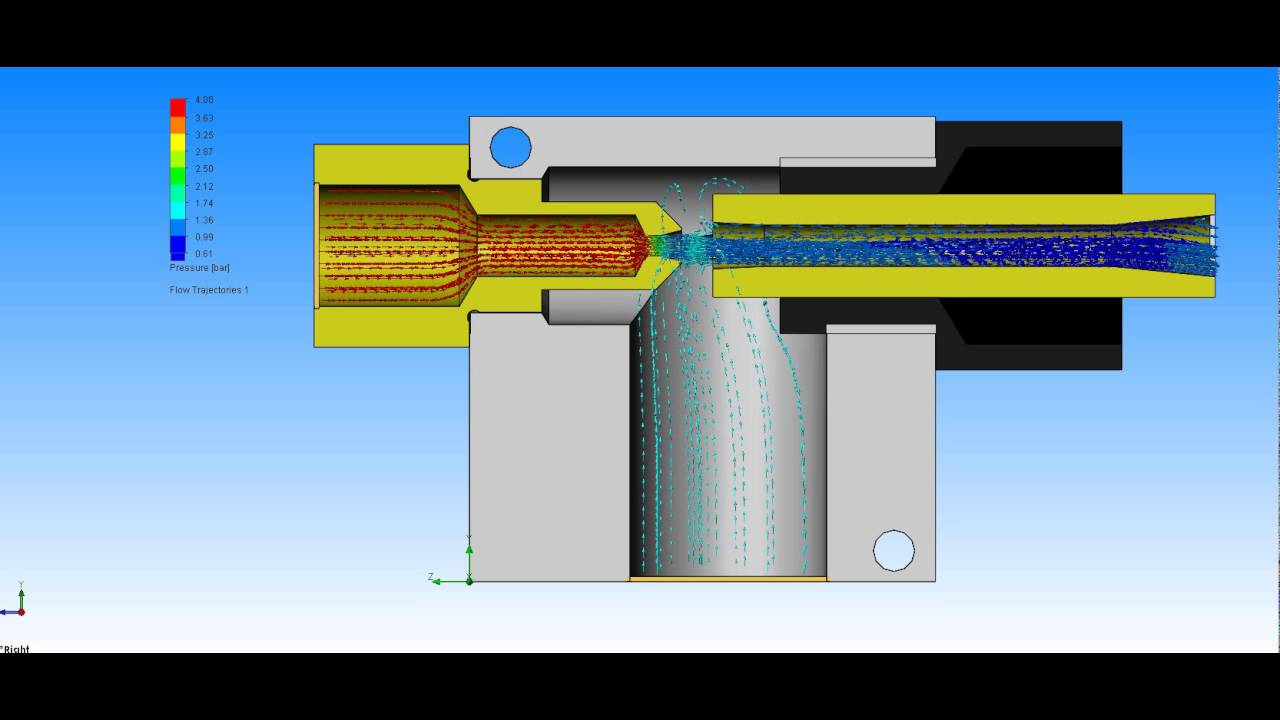 vacuum ejector venturi effect youtube