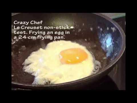 le creuset nonstick test no 2 frying an egg crazy chef. Black Bedroom Furniture Sets. Home Design Ideas