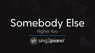 Somebody Else (Higher Key - Piano Karaoke Instrumental) The 1975