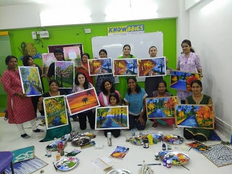 Canvas Painting Class Pune | Learn Canvas Painting in Pune | Knowbbies