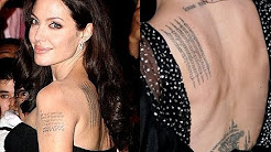Angelina Jolie's Tattoo and Its Meaning (January 2015)