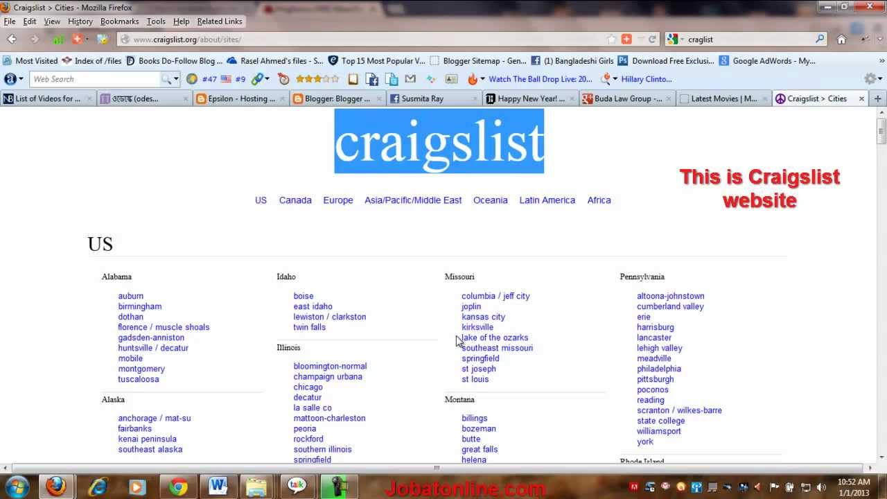 What Is Craigslist Do You Know About It Youtube > all antiques appliances arts+crafts atvs/utvs/snow auto parts auto wheels & tires aviation baby+kids barter beauty+hlth bike. youtube
