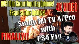 Mi TV4/Pro with PS4 Pro (HDR, 10bit, Input Lag & RT Optimization, Native 4k Gameplay Footage)