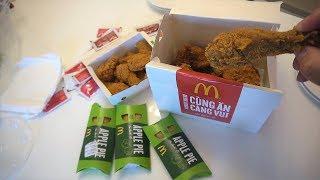Eating MC DONALD'S FRIED CHICKEN in Vietnam