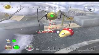 Pikmin 2 Hacking - Fighting Man-at-Legs out of caves! (+bulbmin)