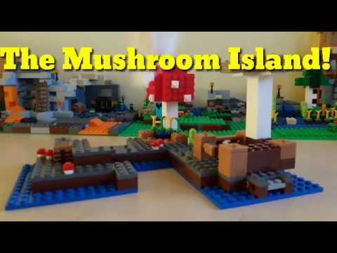 Lego Minecraft 21129 The Mushroom Island Set Review I Pig Forday ...