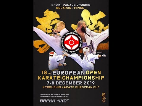 18-й Абсолютный чемпионат и Кубок Европы по киокушинкай карате! 7 декабря. Татами C.