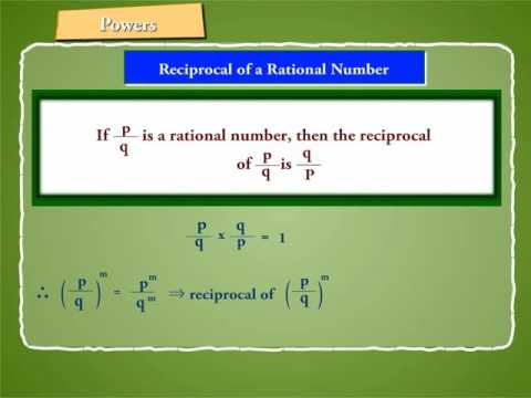 Reciprocal of Rational Numbers