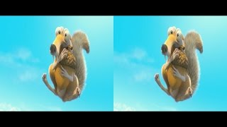 3D Scrat - Continental Crack-up Short Movie | Side by Side SBS Cardboard VR Active Passive