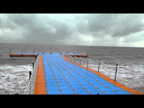 Magic-Float modular floating dock system at sea