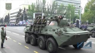 Генеральная репетиция Парада Победы в Донецке(7 мая, несмотря на моросящий дождик, в Донецке радостная атмосфера. Повсюду готовятся к праздникам. Военные..., 2016-05-07T17:05:56.000Z)