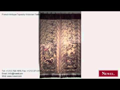 French Antique Tapestry Victorian Textiles and Rugs for