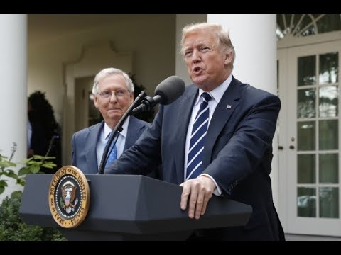 President Trump and Senate Majority Leader McConnell hold a news conference (16/10/17)