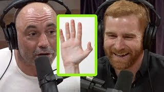 "Andrew Santino Tries to Convince Joe Rogan That ""Hand Enzymes"" Are a Thing"