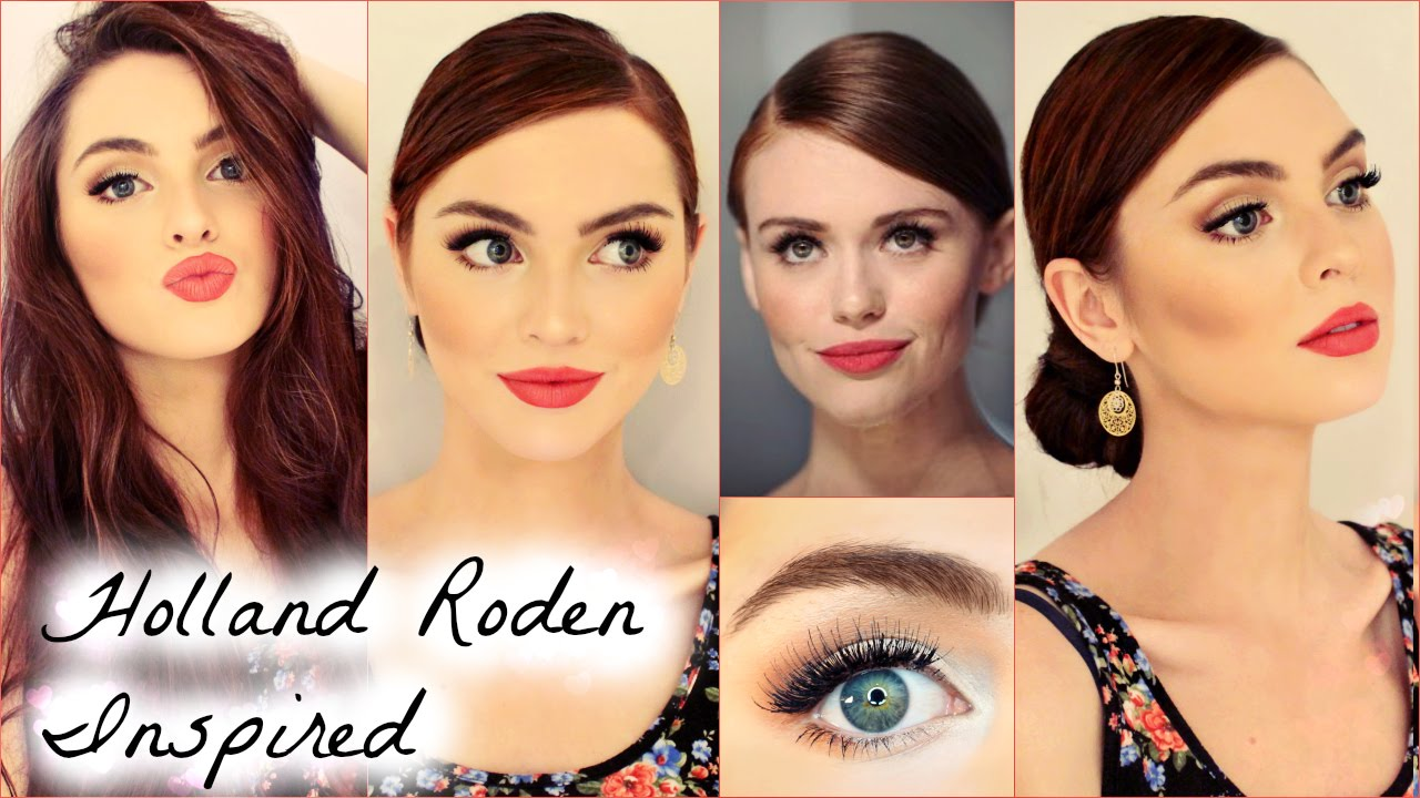 Holland roden makeup with coral red lip quick bun tutorial youtube holland roden makeup with coral red lip quick bun tutorial baditri Image collections