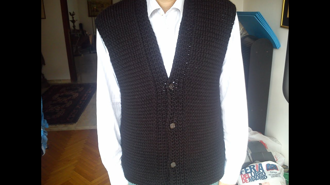 Mens Vest Loom Knitting - YouTube