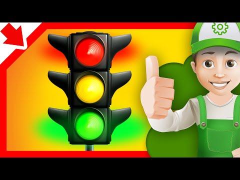 Cartoon about cars. Traffic Light - Little Smart Kids