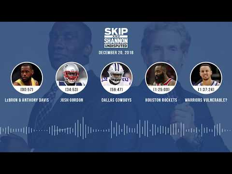 UNDISPUTED Audio Podcast (12.20.18) with Skip Bayless, Shannon Sharpe & Jenny Taft | UNDISPUTED