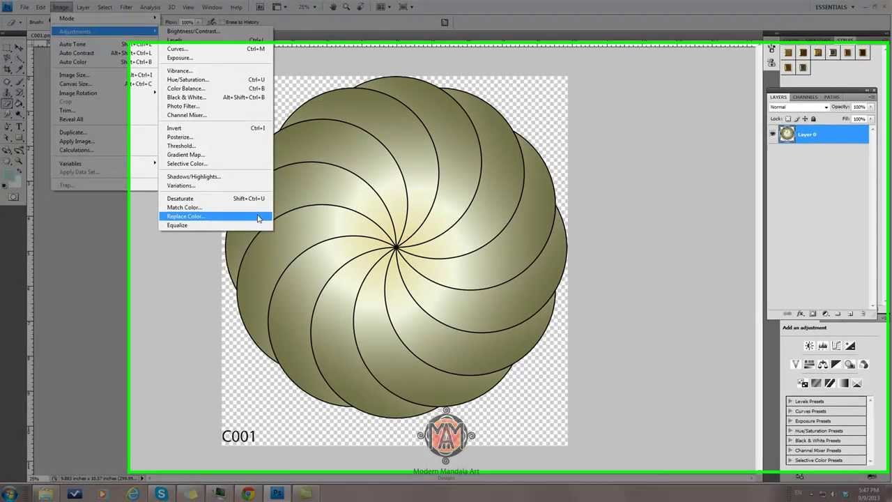 how to change or replace colors of png image in photoshop