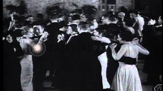 The Havana Casino Orchestra, led by Don Azpiazú, playing various muscial instrume...HD Stock Footage