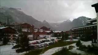 Tignes 16 juillet 2014 en soirée un orage de grêle