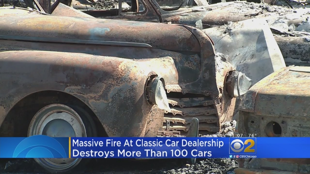 Fire Destroys Nearly Classic Cars At Downstate Dealership