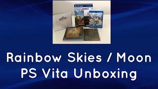 Rainbow Skies and Rainbow Moon Unboxing PS Vita (PSVita) Limited Editions