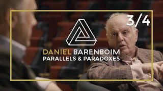 Daniel Barenboim & Christoph Waltz on interpreting a Piece | Parallels & Paradoxes Part 3 / 4
