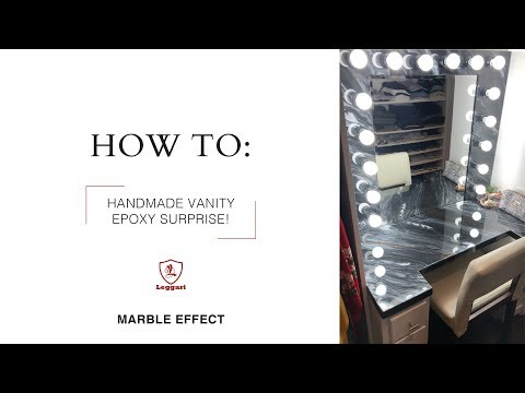 Handmade Vanity | Marble Epoxy Effect | How-To