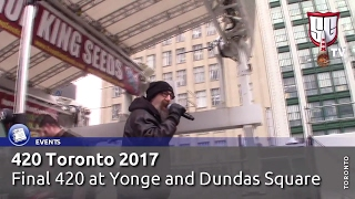 420 Toronto 2017 - Final 420 at Yonge and Dundas Square - Smokers Guide TV Canada