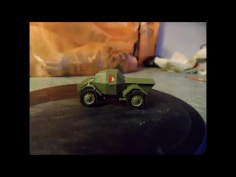 Model Review + Build of Zvezda 1:100 Daimler Mk.I Dingo Armoured Car