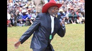 President Kenyatta celebrates benga legend Joseph Kamaru