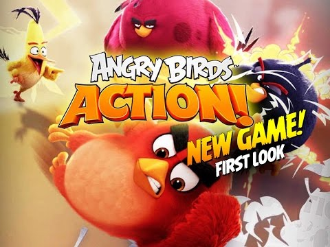 First Look at ANGRY BIRDS ACTION! Brand NEW Game by Rovio - Let's Play