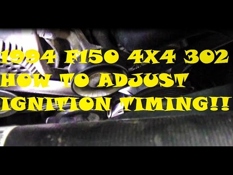 1994 F150 4x4 How To Adjust Ignition Timing Video - YouTube