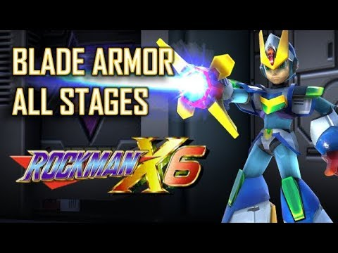 Mega Man X6 - Blade Armor Playthrough (All Stages) No Damage - Xtreme Mode