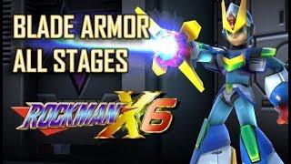 Mega Man X6 - Blade Armor Playthrough (All Stages) No Damage - Xtreme Mode