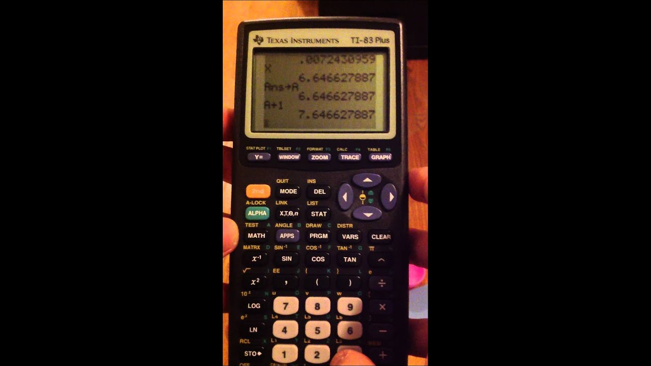 graphing calculator worksheet
