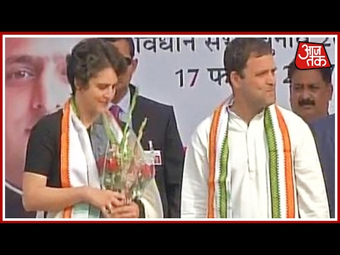 Priyanka And Rahul's Joint Rally In Raebareli; Takes A Dig At PM Modi