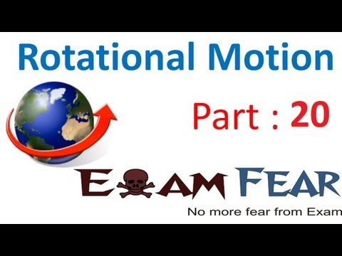 Physics Rotational Motion part 20 (Calculate Moment of inertia) CBSE class 11