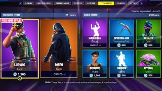 OMEN | ORACLE AXE | LUDWING | HEIDI; Item Shop in FORTNITE #October30th