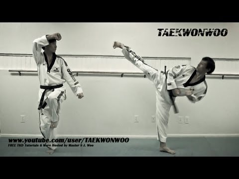 Advanced Taekwondo Kicking Moves Tutorial | TaekwonWoo How to