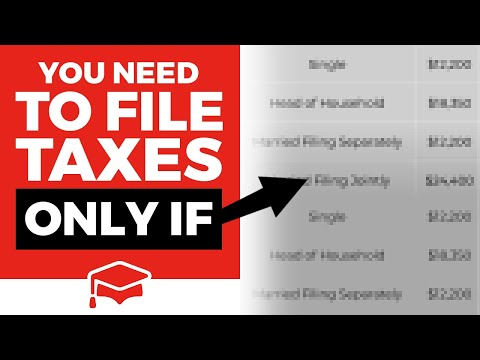 How Much Do You Have To Make To File Taxes
