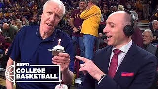Bill Walton eats a cupcake with a lit candle, teases Dave Pasch & more   College Basketball