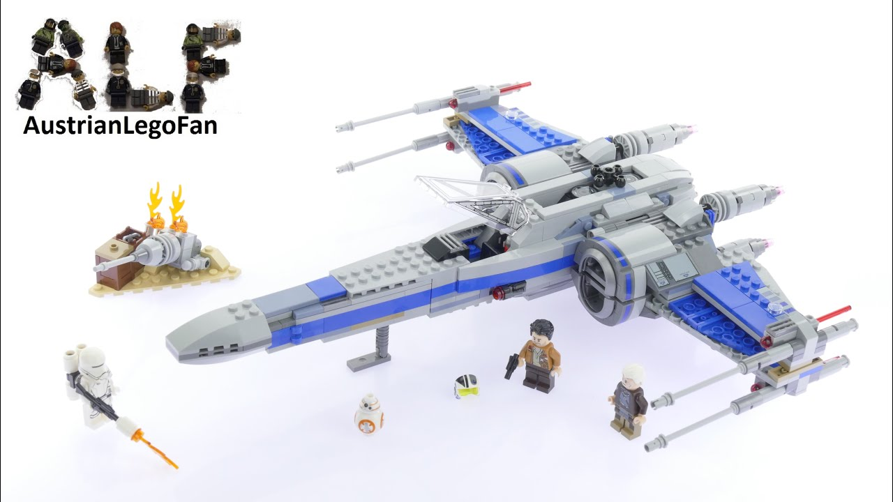 Lego Star Wars 75149 Resistance X Wing Fighter Speed Build 75102 Poeamp039s Review Youtube