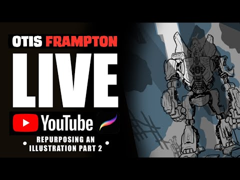 Otis Frampton LIVE - July 16th, 2019  - Repurposing An Illustration Part 2