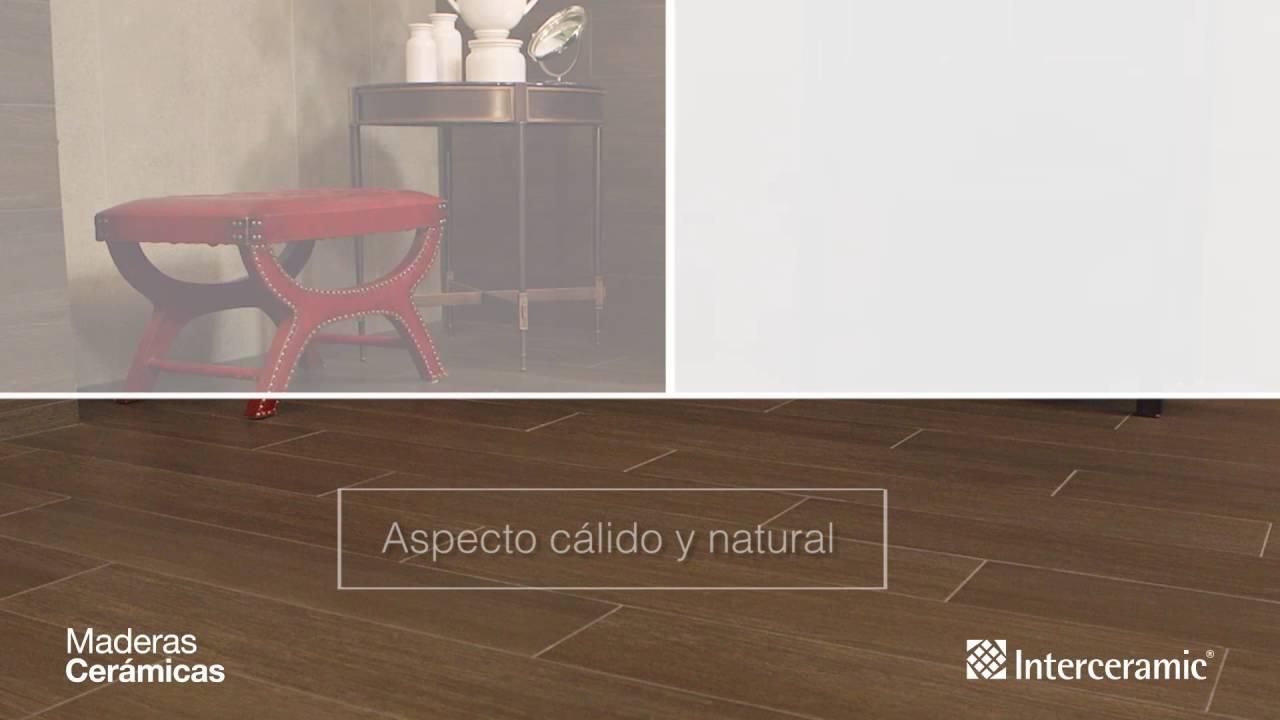 Maderas cer micas interceramic para toda tu casa youtube - Madera tratada para exteriores home depot ...