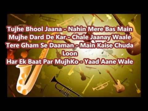 Tujhe Apne dil Se || Karaoke || Ahmed Rushdi || With Lyrics