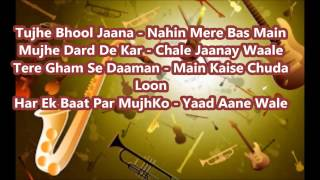 Tujhe Apne dil Se || Karaoke || Ahmed Rushdi || With Lyrics