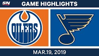 NHL Game Highlights   Oilers vs. Blues - March 19, 2019