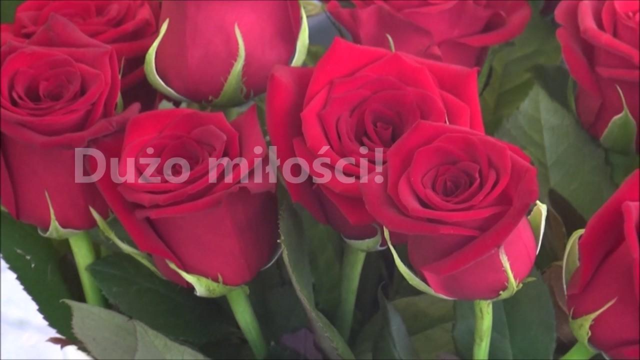 Najpiękniejsze życzenia Urodzinowe Z Kwiatami Youtube